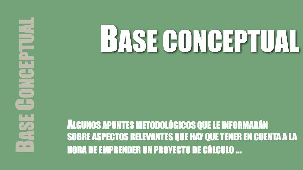 Base conceptual